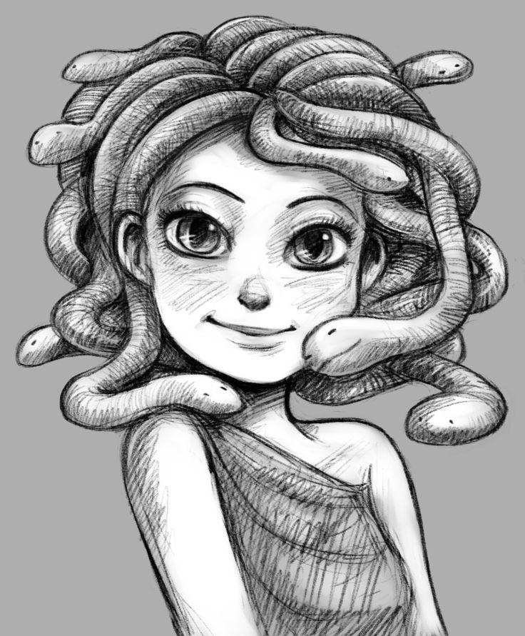 Детские рисунки медузы горгоны