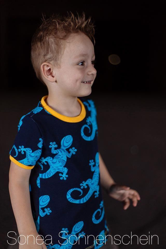 Nähbeispiel lillestoff » Gecko « // Design: Blaubeerpfütze // Nähbeispiel: Sonea Sonnenschein