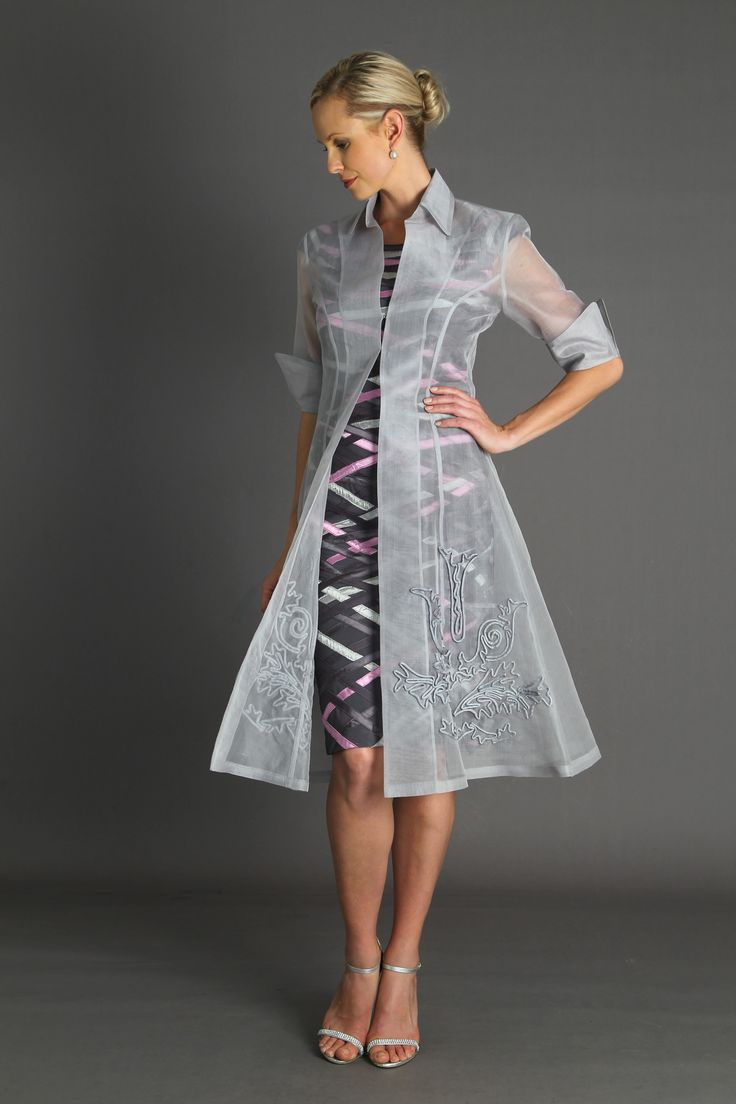 Organza Coat Silver Coats Pinterest Silk Coats