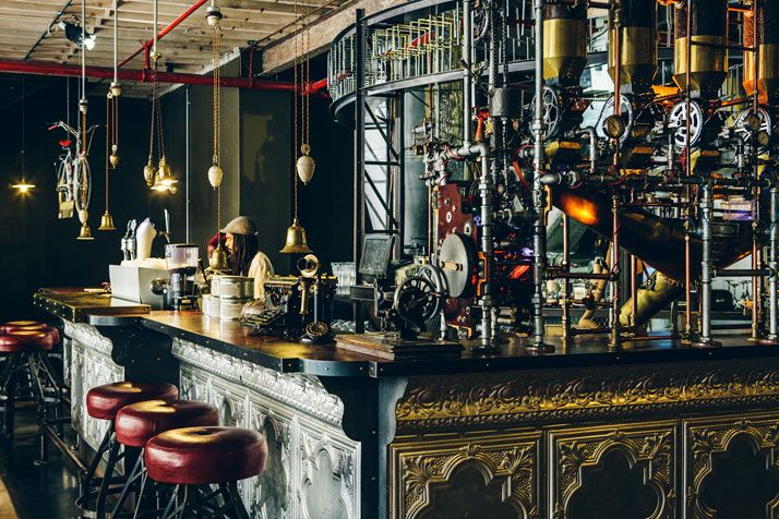 "TRUTH Coffee Shop In Cape Town, South Africa  a ""steampunk"" inspired coffee shop in Cape Town, South Africa. Incredible design by Haldane Martin. Truth and its aesthetic have created as big a buzz as the coffee it serves, brought to life by connoisseur David Donde."
