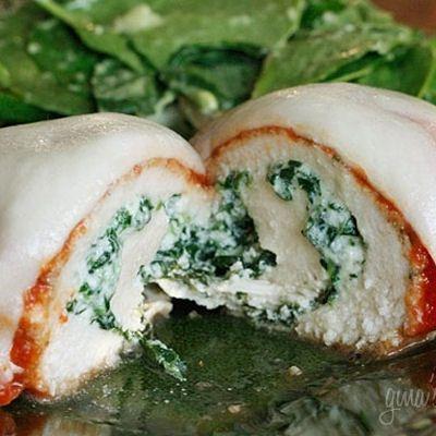 Chicken Rollatini with Spinach Recipe--Yum