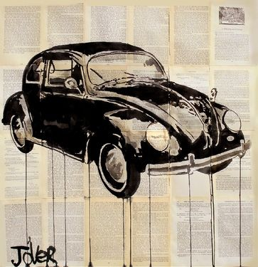 "Saatchi Online Artist Loui Jover; Drawing, ""beetle"" #art"