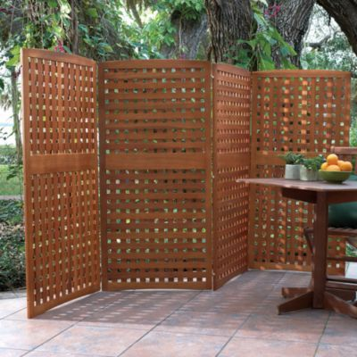 IN FRONT 4-Panel Yard Privacy Screens-Privacy Patio Screen-Outdoor Wood Privacy…