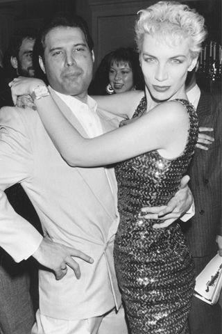 Annie Lennox and Freddie Mercury