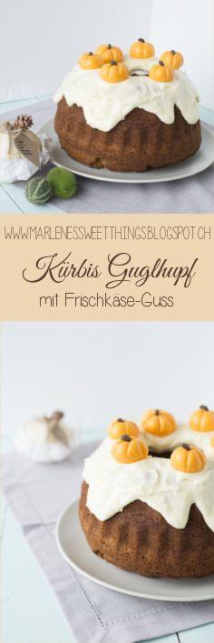 Gewürz-Kürbis Kuchen mit Cream Cheese Frosting / Pumpkin Spice Bundt Cake with Cream Cheese Frosting