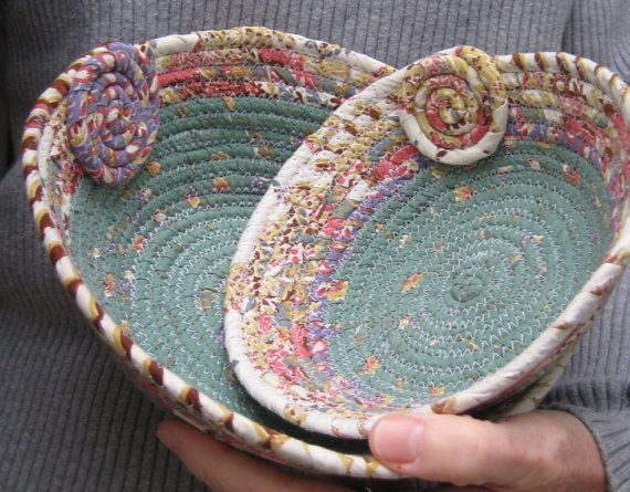 Coiled Clothesline Baskets  set of two  by lickcreekcollections, $30.00