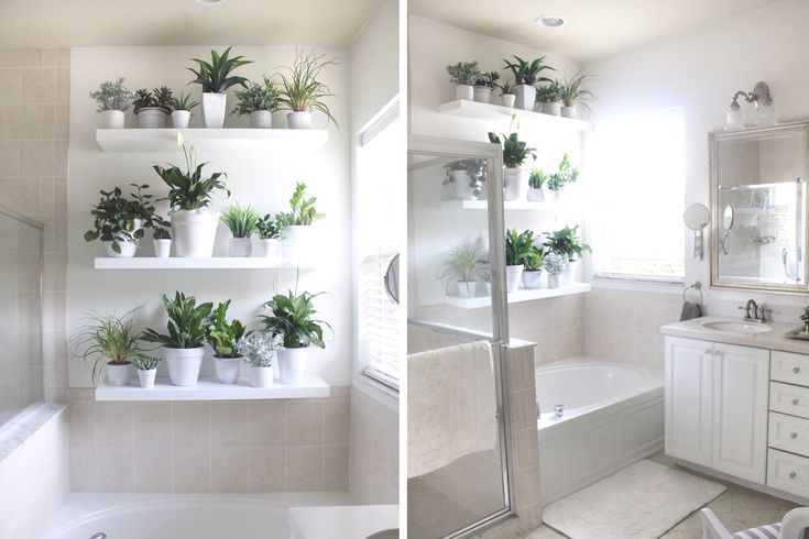 26 Clever Ideas For Decorating With Greenery Bathroom Plants Plant Wall Artificial Plants Outdoor