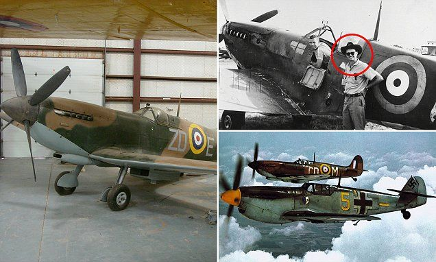 When Wilson 'Connie' Edwards, right, was filming the classic war movie The Battle of Britain, he decided he'd keep the Spitfire he was flying instead of receiving cash. Now the stunt pilot is looking to sell the historic fighter for £1.5 million.