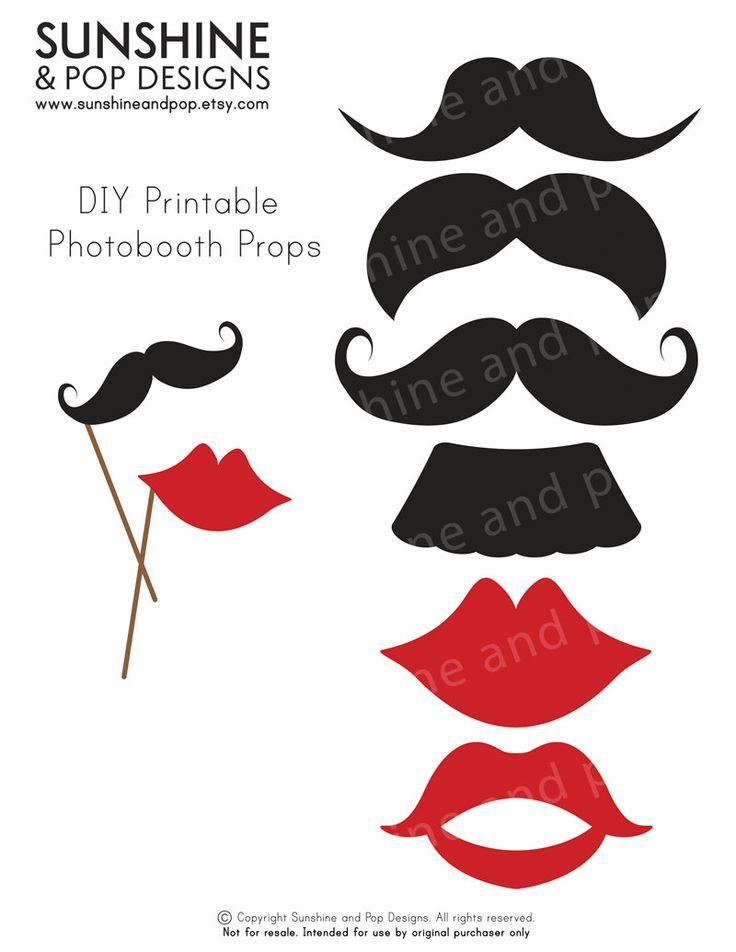 10 FREE Photo Booth Prop Printables! | Bespoke-Bride ...