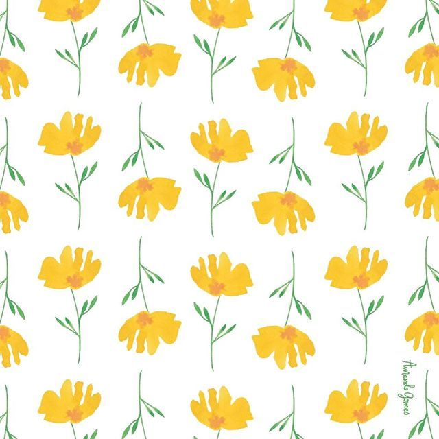 yellow floral pattern - photo #10