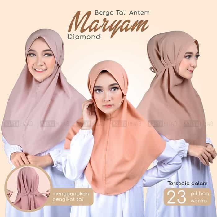 Jual Jilbab Instan Bergo Diamond Maryam Model Terbaru 2021 Warna Earthtone Basic Dan Pastel Cantik Yang Wajib Kamu Koleksi Semuanya Rosy Hijab Jilbab Maryam