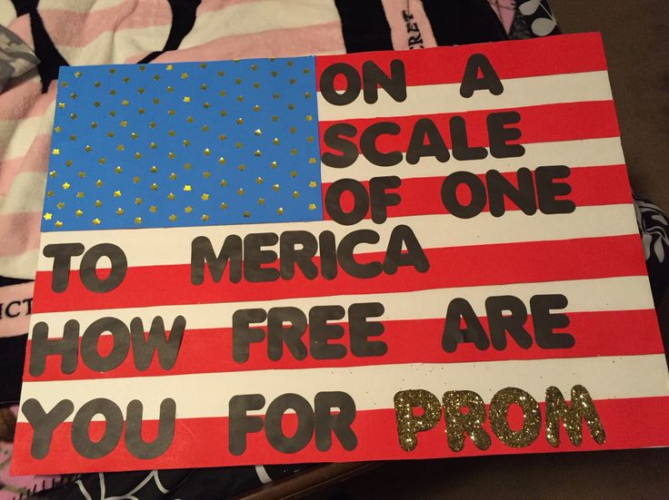 """""""On a scale of one to America how free are you for prom?""""  #Promproposal #promposal"""