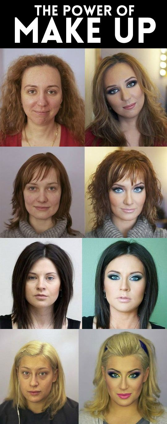 The great power of makeup… I obviously need lessons on how to correctly apply makeup!