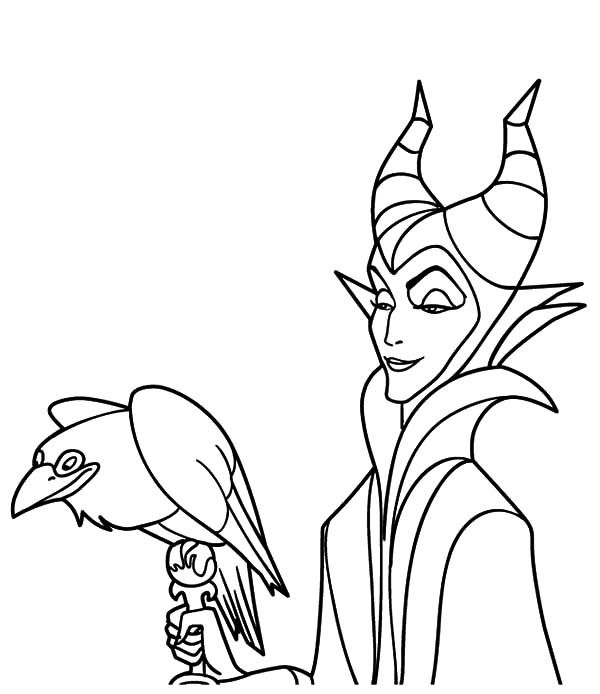 Maleficent Maleficent Coloring Pages Lineart Fables