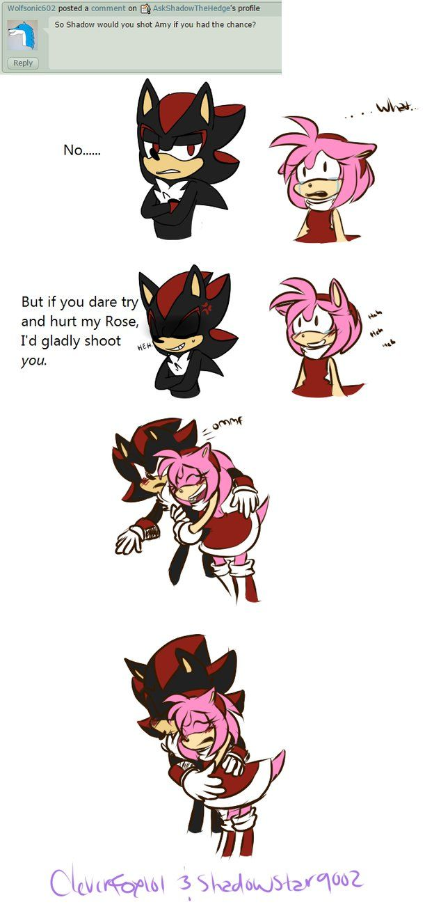 best images about shadamy sonamy shadow the question shadow amy sega art gud job shadow protect yo girl question 266