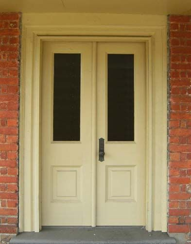 T-1010 Solid Wood Exterior Double Door