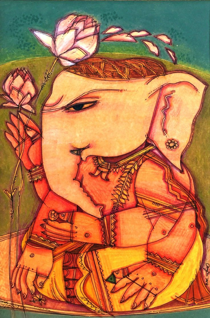 Buy online sunita khedekar paintings - Buy Ganesh Painting Online The Original Artwork By Artist Anjan Chakraverty Exclusively Available At Mojarto Only