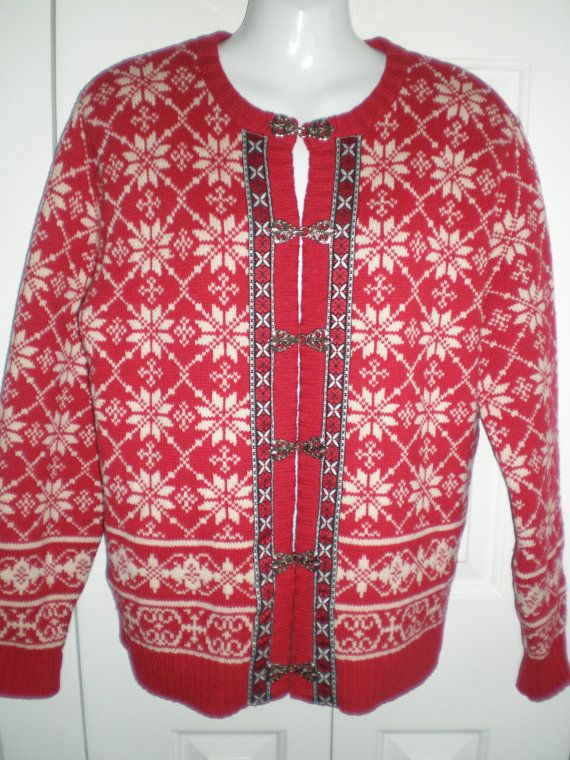 Nordic cardigan sweater nordic snowflake by CuriousCallipipper
