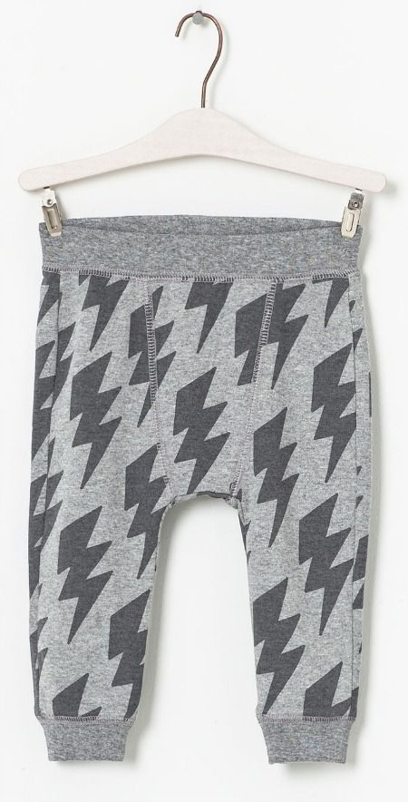 Hot on the high street: Zara lightning print trousers