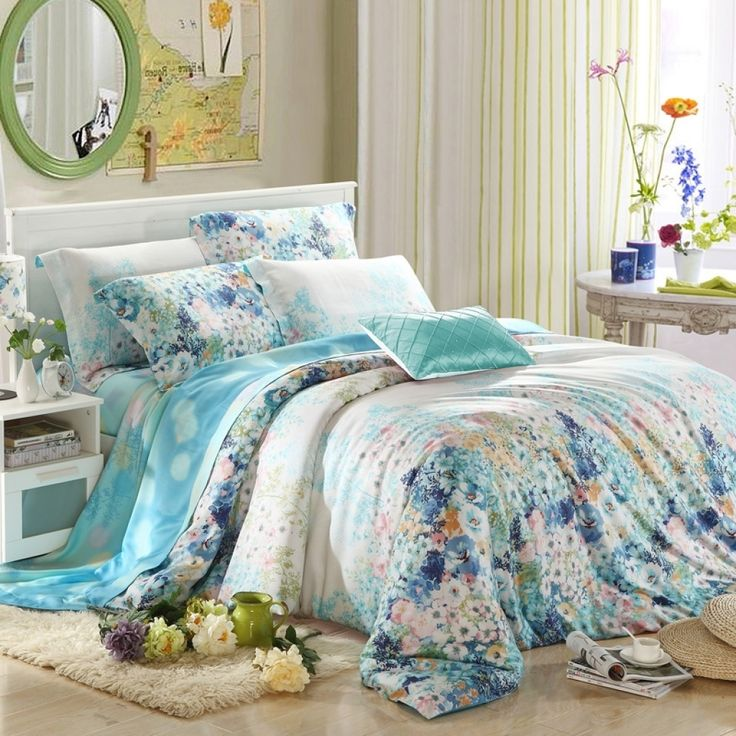 Awesome Floral Bedding Collection Shop For Vivid Flower Print Bedding Sets intended for French Country Bedding Grey And Yellow