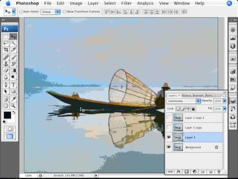 Learn Photoshop - How to Simulate a Watercolor Painting