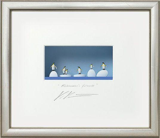 """Volker Kühn: 3D-Painting """"Fisherman's Friends"""", Framed"""