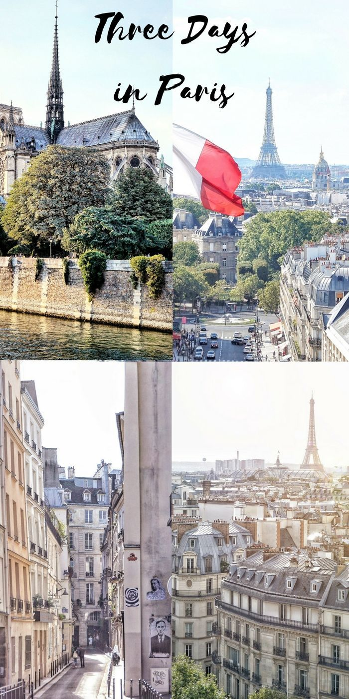 3 days in Paris, France