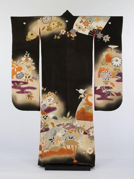 Kimono With Flowing Water Design Metropolitan Museum Of Art