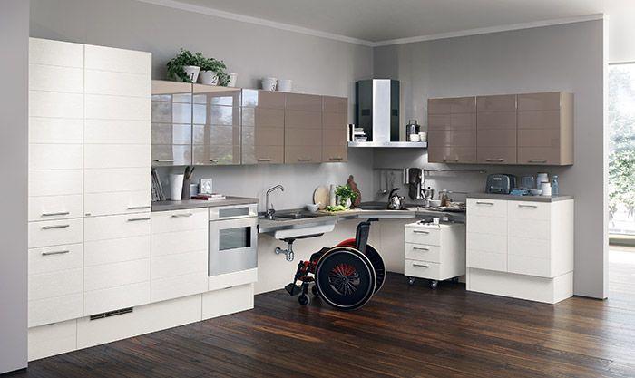 Il piano di lavoro delle cucine per anziani senza basi ...