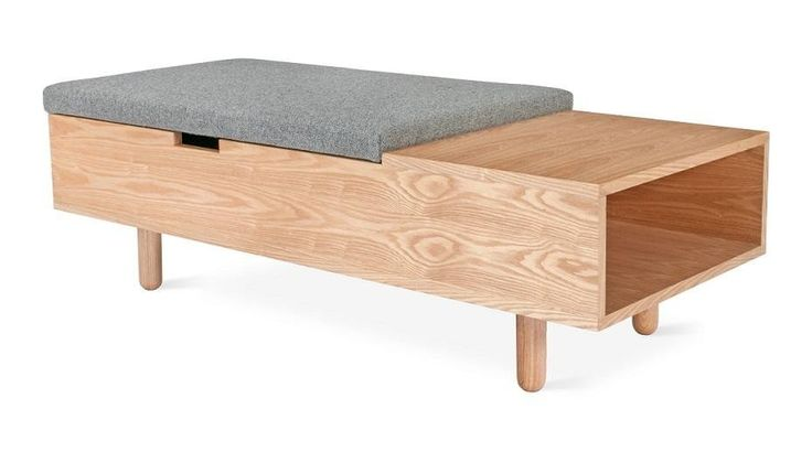 This minimal coffee table acts as a functional yet beautiful storage ottoman. Absolutely perfect for your entryway or in the middle of the living room, acting as extra seating for guests, a place to hide the kids toys or ordering your home.