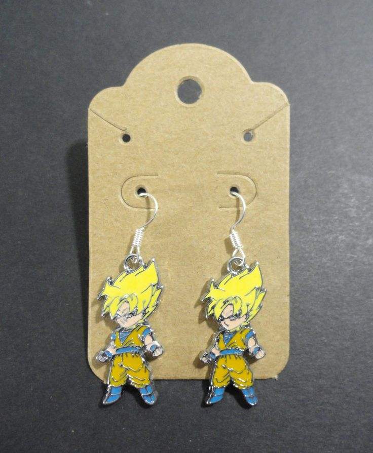 Super Saiyan Goku Charm Dangle Earrings Dragonball Z DBZ Anime Cartoon Jewelry #Unbranded #DropDangle