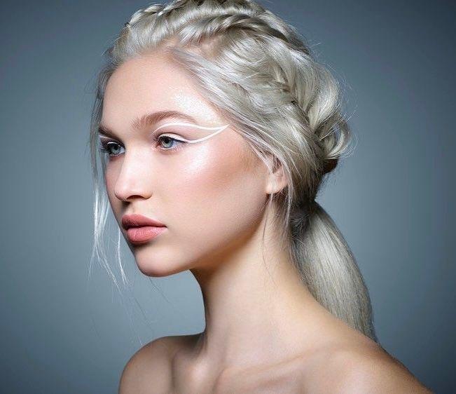 Ali Collier As Helene Aquilla White Blonde Hair Hair Styles