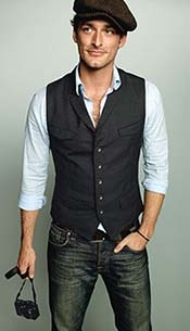 love the casual shirt and vest look. perfect for the groomsmen