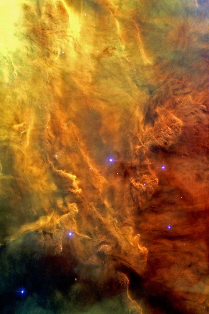 A spectacular Hubble Space Telescope image reveals the heart of the Lagoon Nebula. Seen as a massive cloud of glowing dust and gas, bombarded by the energetic radiation of new stars, this placid name hides a dramatic reality.