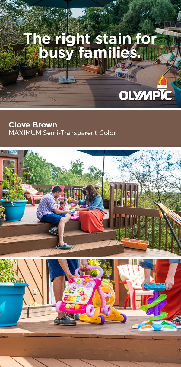 Staining the deck of your new home can be a big project. Learn how Olympic® MAXIMUM® Stain + Sealant in One allows you to stain in a wide range of temperatures so that your family can make the most of your space.