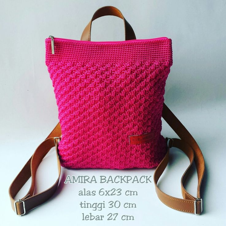Amira Crochet Backpack Handmade by Edelweiss