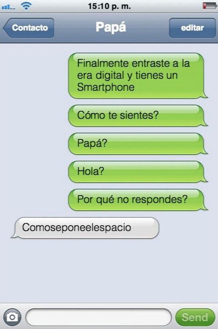 Los mensajes más surrealistas de padres a hijos en WhatsApp. ~ cosas del wash