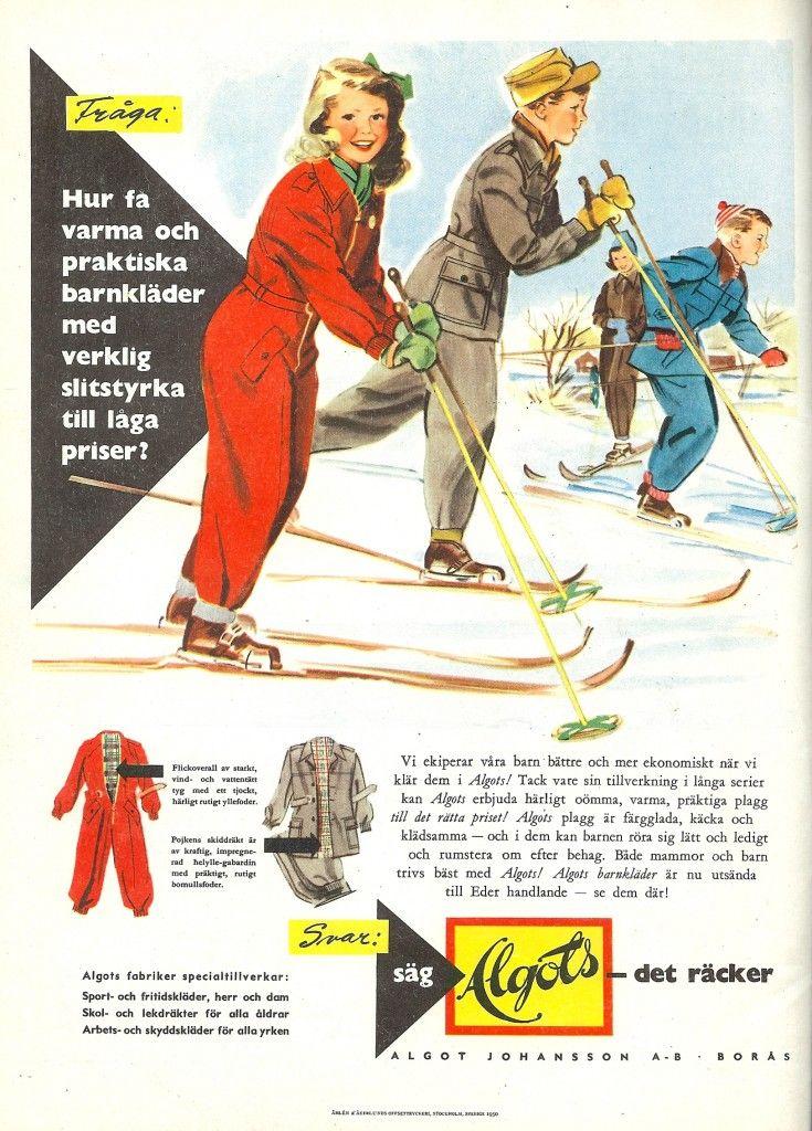 vinterkläder barn 1950