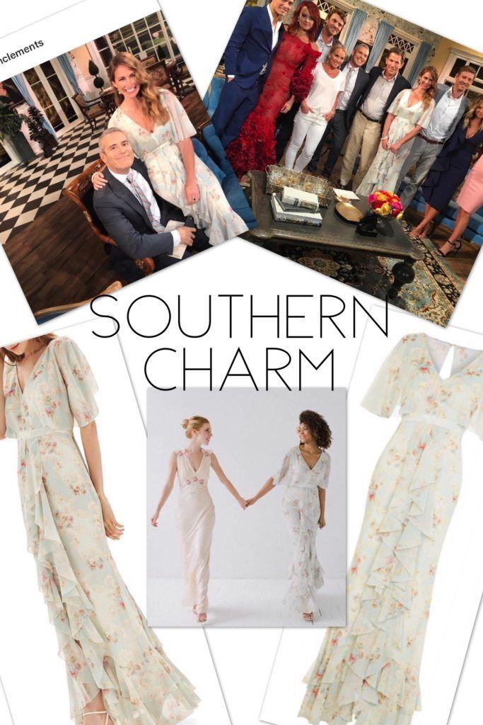 Southern Charm Season 4 Reunion Fashion: Landon Clements' Floral Maxi Dress / Gown http://www.bigblondehair.com/reality-tv/southern-charm/landon-clements-southern-charm-season-4-reunion-dress/