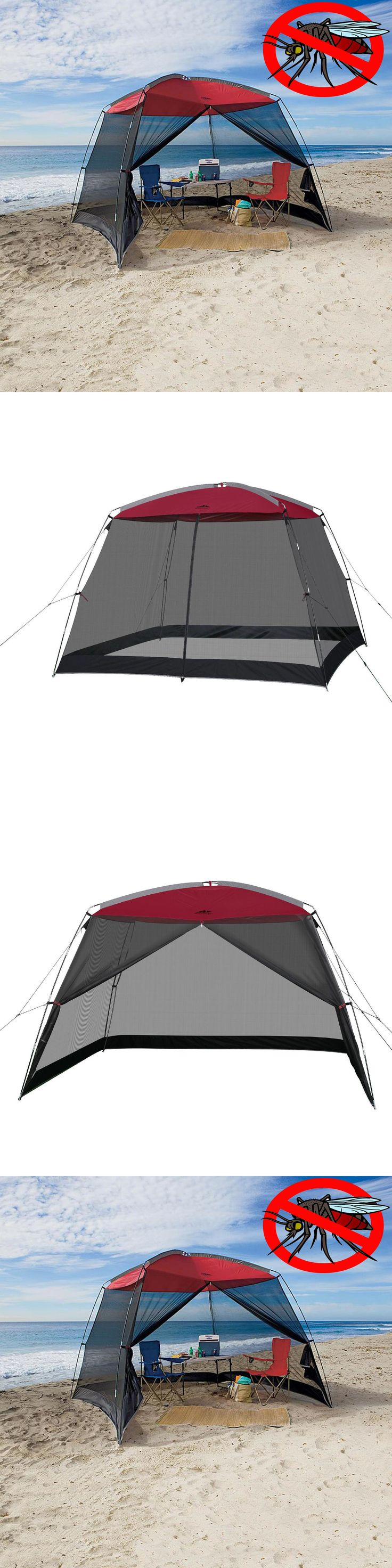 Canopies and Shelters 179011: Beach Tent Shelter Large Sun Shade Canopy 10 X 10 Ft. Summer Camping Roof Mesh -> BUY IT NOW ONLY: $59.99 on eBay!