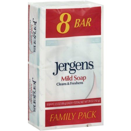 Jergens Mild Soap Bars Family Pack - 8 CT