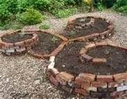 Spiral Brick Raised Garden Beds - easier to harvest - might make