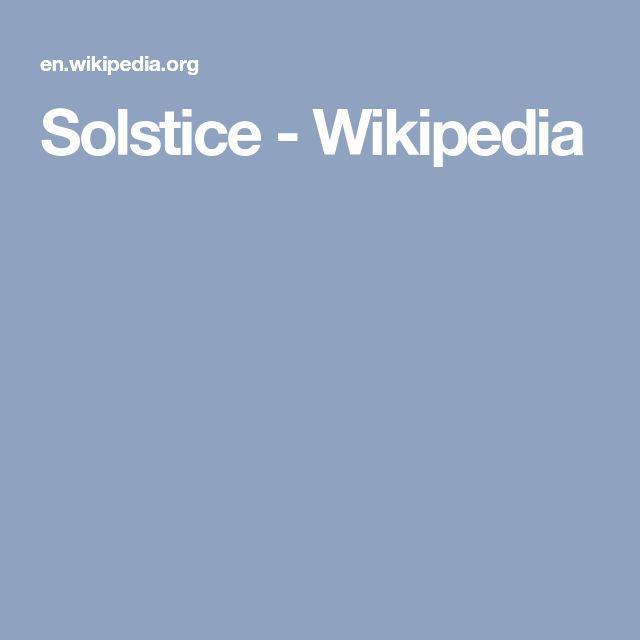 Solstice - Wikipedia