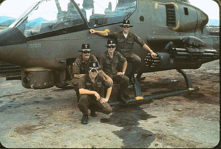 Cobra Attack helicopter, 17th Cavalry, 7th Squadron. ~ Vietnam War