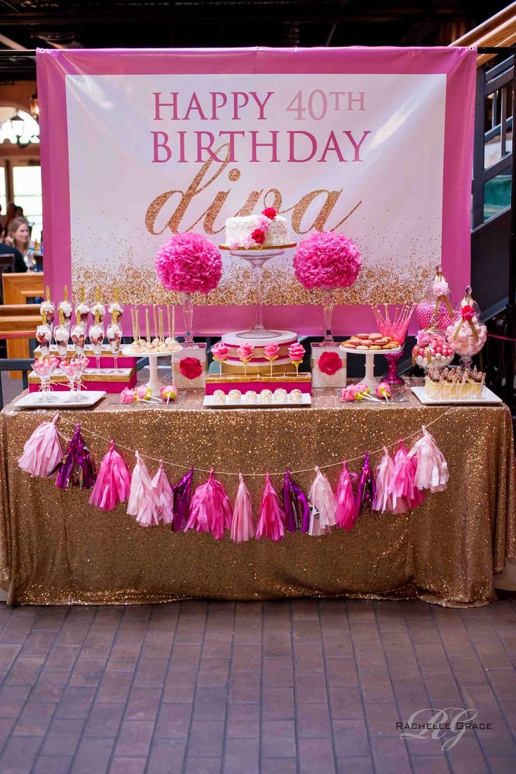 Create ~ Cook ~ Capture: Diva Pink & Gold 40th Birthday Party gold and pink | glam | petite treats