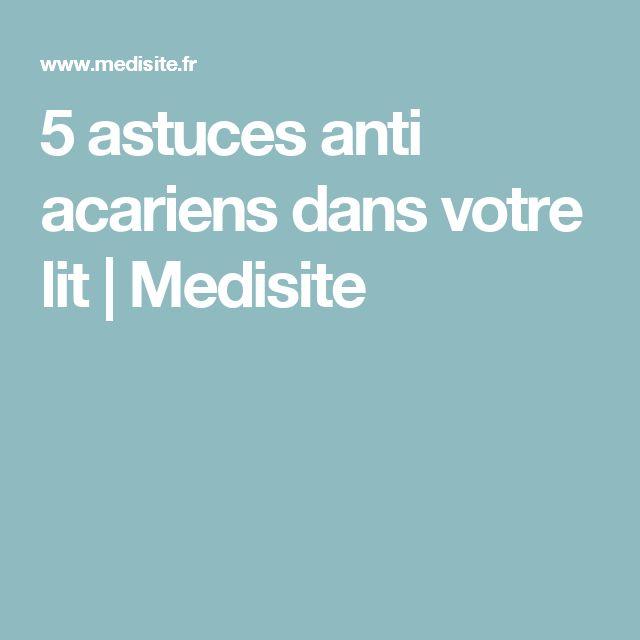 5 astuces anti acariens dans votre lit | Medisite