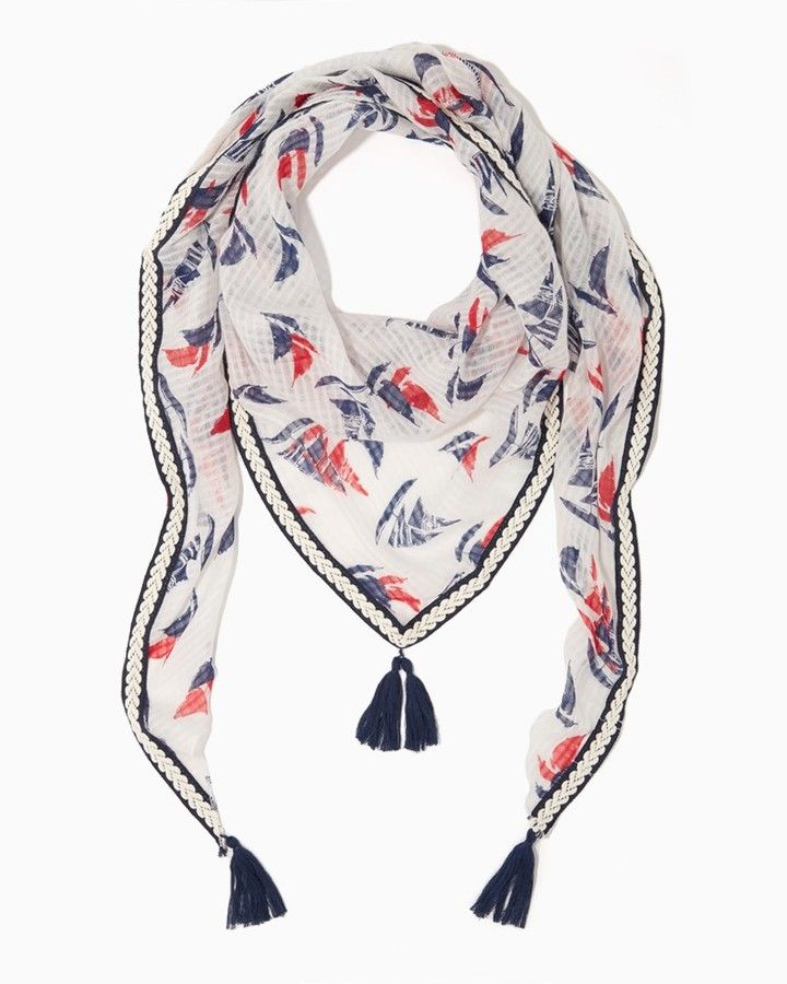 Charming charlie Sailing Triangle Tassel Scarf