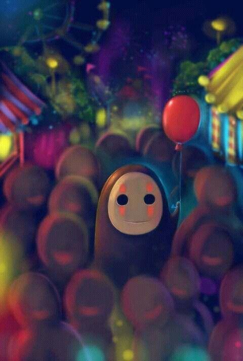 Ghibli - Le Voyage de Chihiro (Spirited Away) Miyazaki - Kaonashi Fan Art