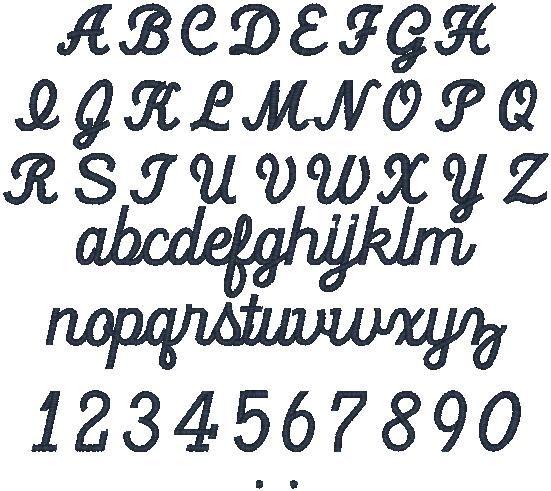 Lettering manila embroidery script