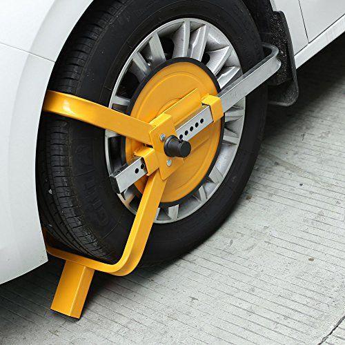Femor Sabot de roue bloque-roue antivol caravane voiture camping car remorque voiture collier serrage: Caractéristiques: *100 % tout neuf…